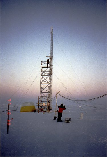 Instrument tower at SHEBA Ice Camp