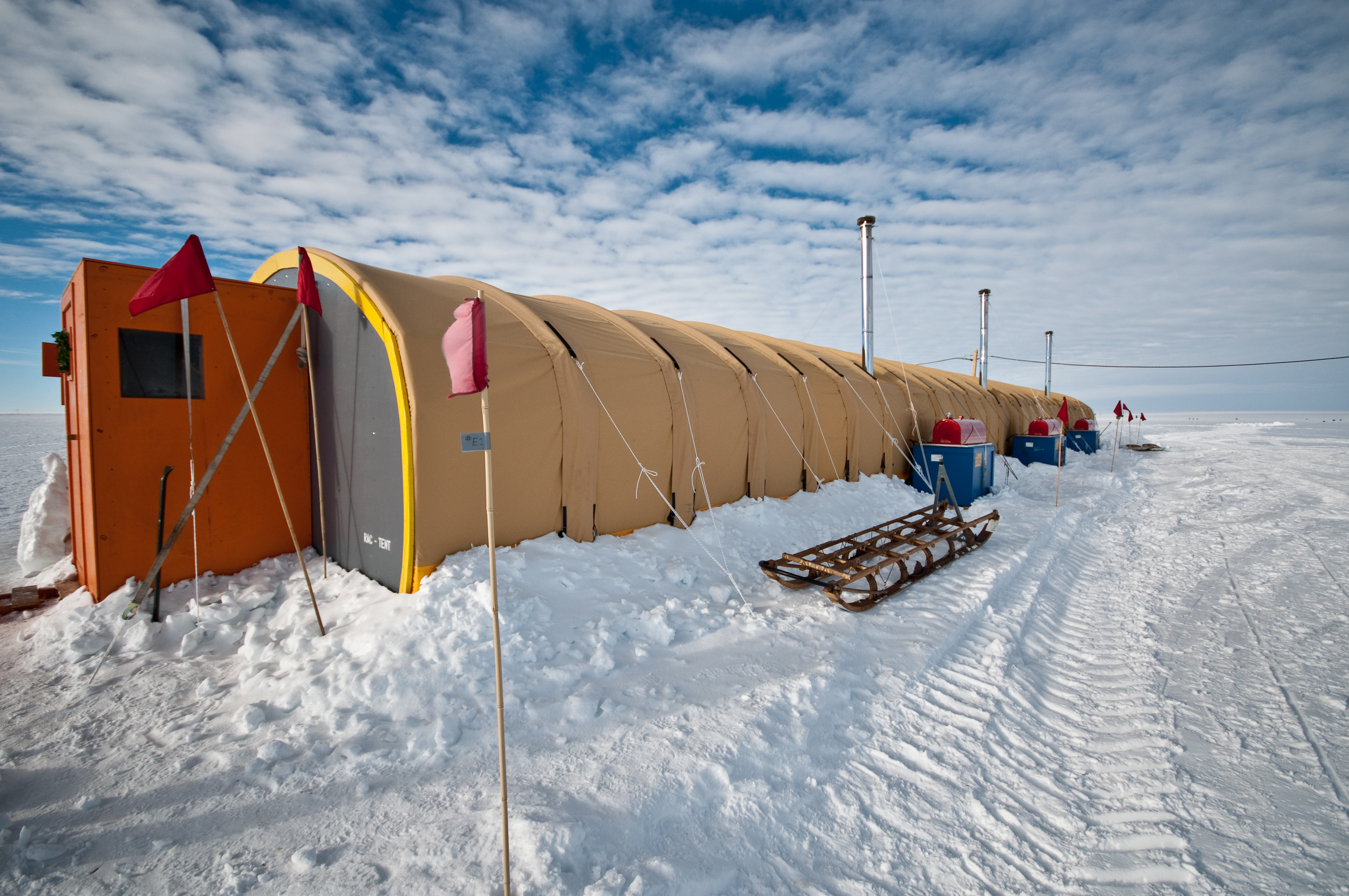 Galley Tent, Byrd Surface Camp, West Antarctica