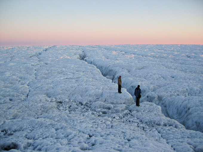 Crevasse near Melt Channel
