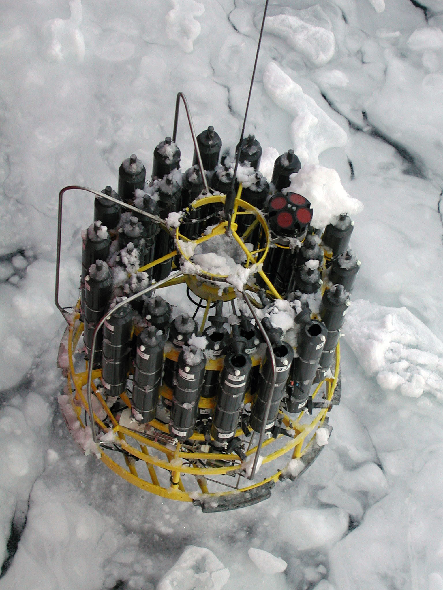 CTD emergin through the ice