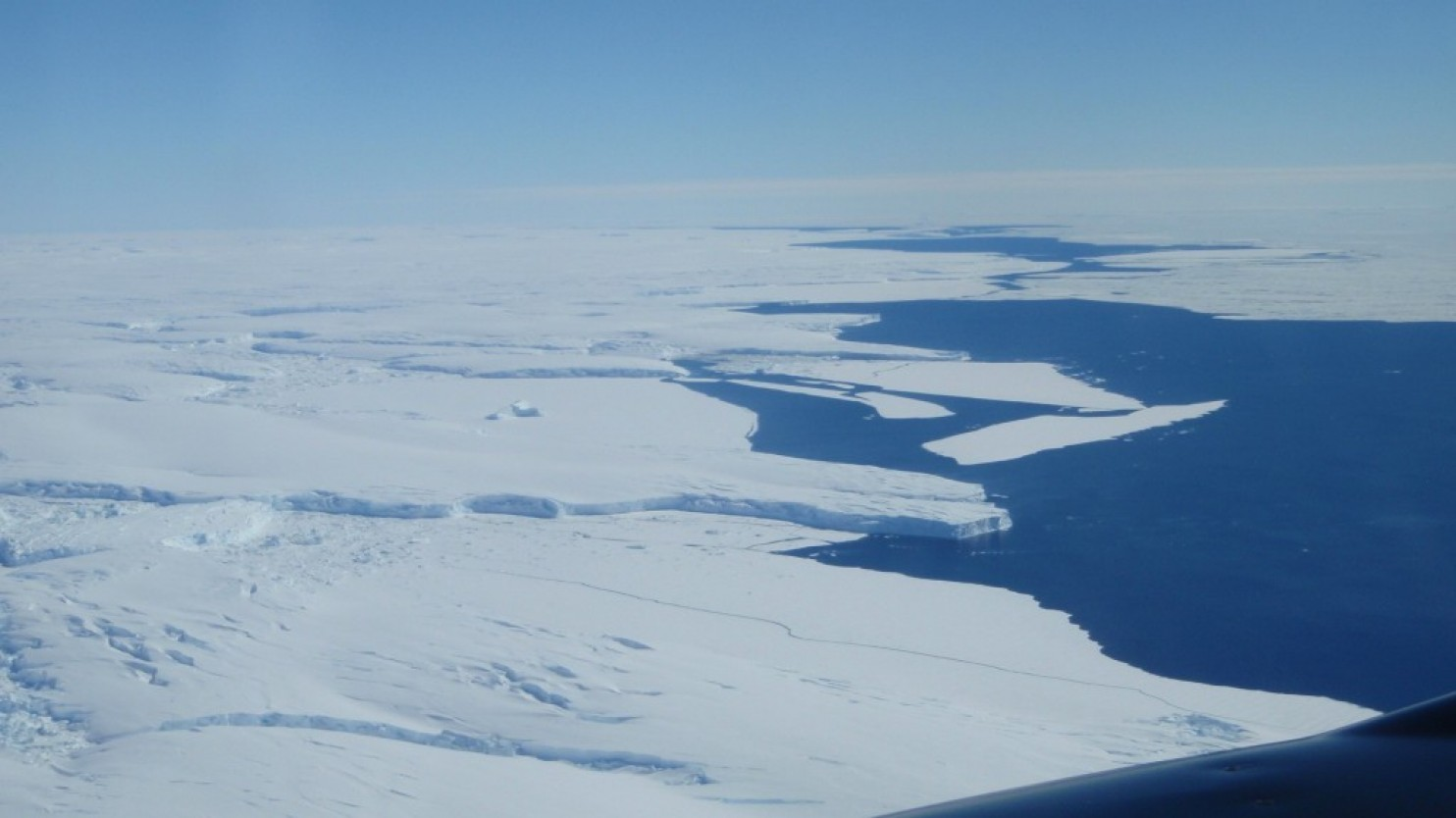 Totten Glacier's ice shelf edge. (Jamin Greenbaum)