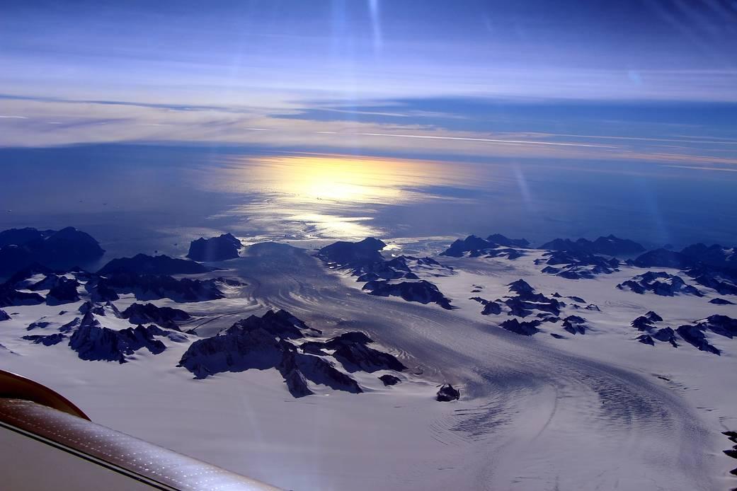 Greenland's Steenstrup Glacier. NASA/John Sonntag (2016)