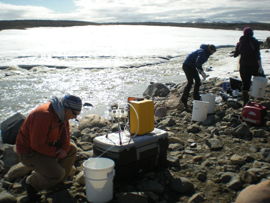 North River sampling areas near ice sheet